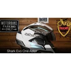 Shark Evo-One Astor (Siyah/Beyaz/Gri) Çeneden Açılır Kask